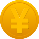 128x128px size png icon of coin yuan