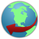 128x128px size png icon of globe service