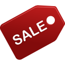 128x128px size png icon of sale