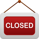 128x128px size png icon of shop closed