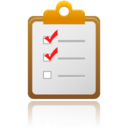 128x128px size png icon of checklist