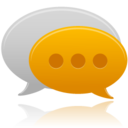 128x128px size png icon of communication