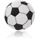 128x128px size png icon of football