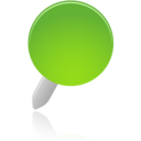 128x128px size png icon of pin green