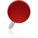 128x128px size png icon of pin red