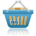 128x128px size png icon of shopping basket full