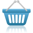 128x128px size png icon of shopping basket