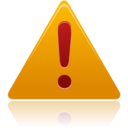128x128px size png icon of warning