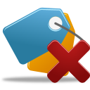 128x128px size png icon of Bookmark delete