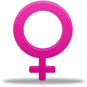 128x128px size png icon of Female