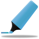 128x128px size png icon of Highlightmarker blue