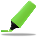 128x128px size png icon of Highlightmarker green
