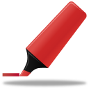 128x128px size png icon of Highlightmarker red