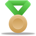 128x128px size png icon of Metal bronze green
