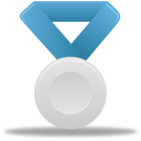 128x128px size png icon of Metal silver blue