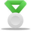 Metal silver green Icon