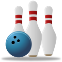 128x128px size png icon of Sport bowling