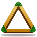 128x128px size png icon of Sport triangle