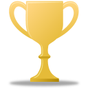 128x128px size png icon of Trophy gold