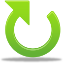 128x128px size png icon of Clockwise arrow