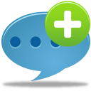 128x128px size png icon of Comment add