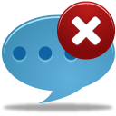 128x128px size png icon of Comment delete