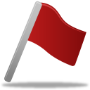 128x128px size png icon of Flag red