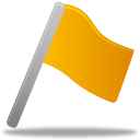 128x128px size png icon of Flag yellow