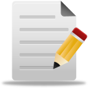 128x128px size png icon of edit file