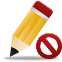 128x128px size png icon of edit not validated