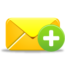 128x128px size png icon of email add