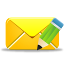128x128px size png icon of email edit
