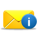 128x128px size png icon of email info