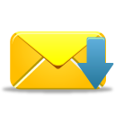 128x128px size png icon of email receive