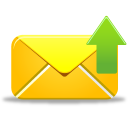 128x128px size png icon of email send
