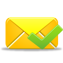 128x128px size png icon of email validated