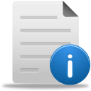 128x128px size png icon of file info