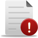 128x128px size png icon of file warning