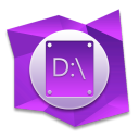 128x128px size png icon of D