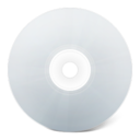 128x128px size png icon of CD avant blanc