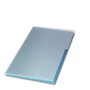 128x128px size png icon of Documents ferme bleu