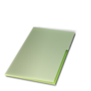 128x128px size png icon of Documents ferme vert