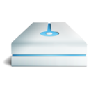 128x128px size png icon of Hdd bleu