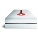 128x128px size png icon of Hdd cranberry