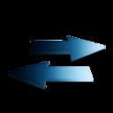 128x128px size png icon of Rafraichir bleu