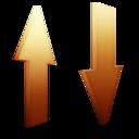 128x128px size png icon of Transfert orange