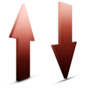 128x128px size png icon of Transfert rouge