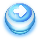 128x128px size png icon of Button Blue Arrow Right