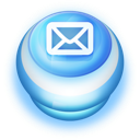 128x128px size png icon of Button Blue Mail