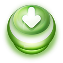 128x128px size png icon of Button Green Arrow Down